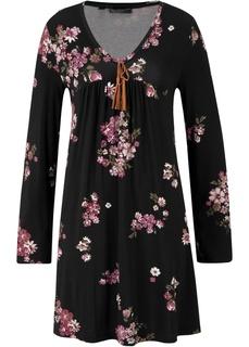 Платья с длинным рукавом Платье с длинным рукавом, трикотаж с принтом Bonprix