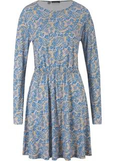 Короткие платья Платье с длинным рукавом и узором пейсли Bonprix