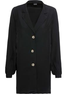 Блузки с длинным рукавом Блузка длинная на пуговицах Bonprix