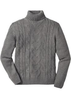 Мужские пуловеры Пуловер с воротником гольф Bonprix