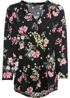 Лонгсливы Трикотажная блузка в цветочек Bonprix