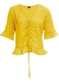 Блузки с коротким рукавом Блузка с драпировкой Bonprix