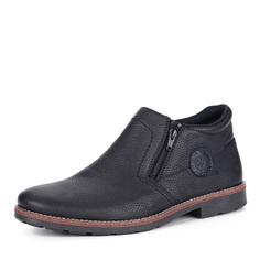 Ботинки Черные кожаные ботинки на шерсти Rieker