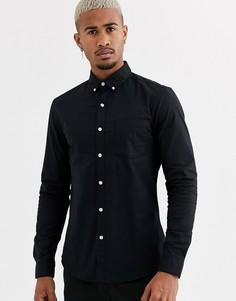 Черная оксфордская рубашка Topman - Черный