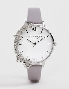 Наручные часы серебристого цвета с цветочной отделкой Olivia Burton - Серебряный