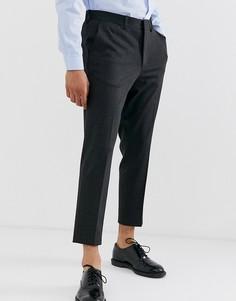 Суженные книзу серые укороченные брюки в полоску Selected Homme - Серый