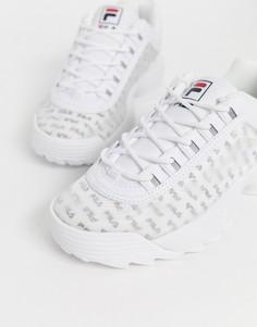 Кроссовки с логотипом Fila - Disruptor II - Белый