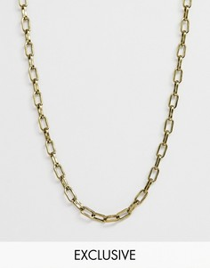 Золотистое колье Reclaimed Vintage эксклюзивно для ASOS - Золотой