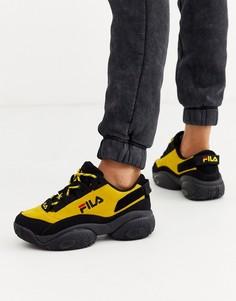 Черно-желтые кроссовки Fila Provenance - Черный