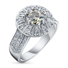Кольцо из белого золота с бриллиантами ктп09к091809 ЭПЛ Якутские Бриллианты
