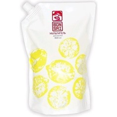Средство для мытья посуды и фруктов BONSAI мультигель с ароматом японского лимона, концентрат (запасной блок) 800 мл