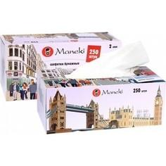 Салфетки бумажные MANEKI Dream белые с ароматом Европы 2 слоя 250 шт