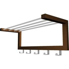 Вешалка настенная Мебелик Дольче темно-коричневый/металлик