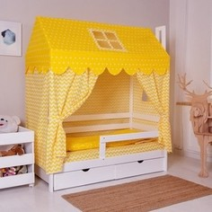 Комплект для кроватки Домик Incanto жёлтый 382005