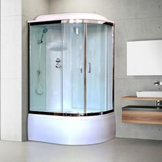 Душевая кабина Royal Bath BK3 120х80х217 стекло белое/прозрачное, левая (RB8120BK3-WT-CH-L)