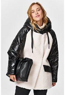Комбинированная шуба из овечьей шерсти Virtuale Fur Collection