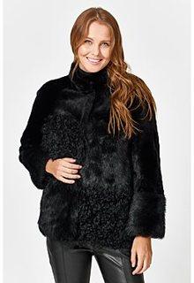 Короткая шуба из овчины Virtuale Fur Collection