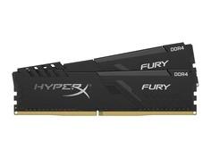 Модуль памяти Kingston HyperX Fury Black DDR4 DIMM 2666MHz PC4-21300 CL16 - 16Gb KIT (2x8Gb) HX426C16FB3K2/16