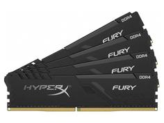 Модуль памяти Kingston HyperX Fury Black DDR4 DIMM 2400Mhz PC-19200 CL15 - 32Gb Kit (4x8Gb) HX424C15FB3K4/32