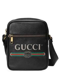 Gucci сумка-мессенджер с принтом логотипа