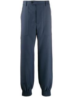 Gucci брюки строгого кроя с эластичными манжетами