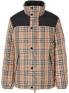Burberry куртка-пуховик в клетку Vintage Check