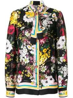 Dolce & Gabbana блузка с цветочным принтом