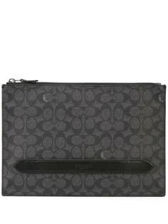Coach парусиновый клатч с логотипом Manhattan
