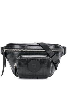 Fendi поясная сумка FF с принтом