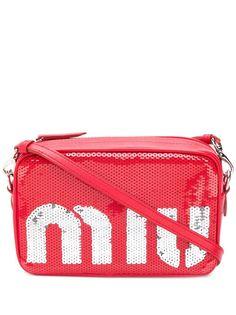 Miu Miu сумка на плечо с пайетками