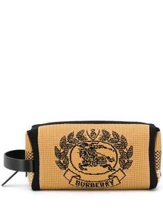 Burberry трикотажный клатч с фирменной эмблемой