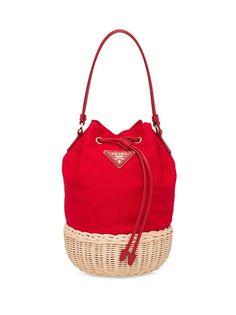 Prada плетеная сумка на плечо