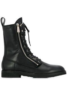 Balmain ботинки в стиле милитари