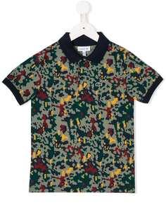 Lacoste Kids рубашка-поло с камуфляжным принтом