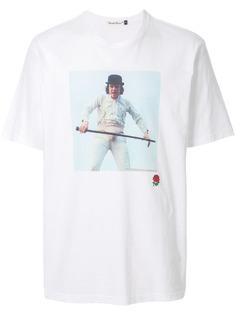 UNDERCOVER футболка с контрастным принтом