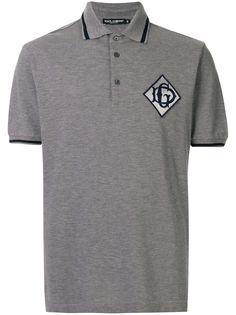 Dolce & Gabbana рубашка-поло с нашивкой-логотипом