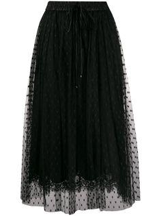 Dolce & Gabbana юбка из тюля с кружевом
