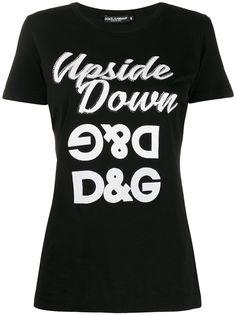 Dolce & Gabbana футболка с перевернутым логотипом