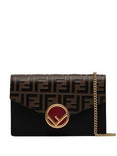 Fendi сумка на плечо с узором FF