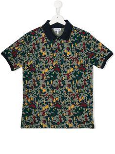 Lacoste Kids рубашка-поло с принтом