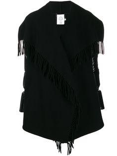Moncler куртка-пуховик с бахромой