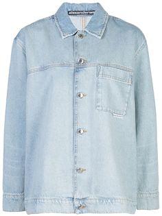 Alexander Wang джинсовая рубашка с длинными рукавами