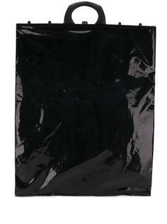 Mm6 Maison Margiela лакированная сумка-тоут