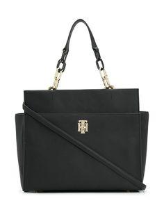 Tommy Hilfiger сумка-сэтчел из сафьяновой кожи с металлическим логотипом