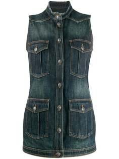 Chanel Pre-Owned джинсовая куртка без рукавов