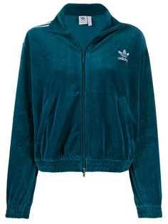 adidas велюровая спортивная куртка