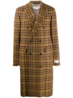 Golden Goose двубортное твидовое пальто