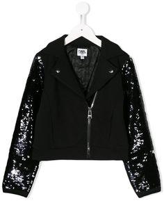 Karl Lagerfeld Kids куртка с вышивкой пайетками