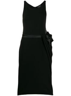 Emporio Armani платье миди с поясом и бантом