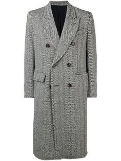 AMI двубортное пальто с накладными карманами